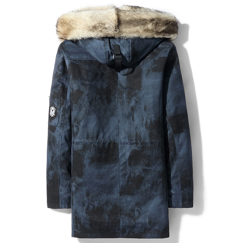 2020 Winter Jacket Men Real Fur Coat Parka Natural Wolf Fur Liner Luxury Long Coat Warm Parkas D104A8501-1 KJ3745
