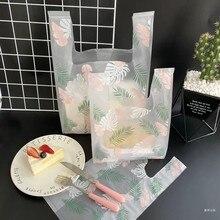 Sacs en plastique pour supermarché, livraison gratuite 50 pièces/lot sacs en plastique pour Shopping, nouveau matériel sacs gilet cadeaux sacs cosmétiques sac d'emballage alimentaire