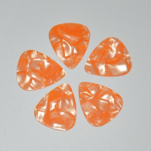 100pcs/lot 0.46mm 0.71mm Orange Pearl Celluloid Guitar Picks Plectrums for Acoustic Electric Bass