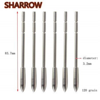 6/12/24pcs Archery Arrowhead Hunting Insert Arrow Point Tips Practice Broadhead For ID 3.2mm Arrow Shaft Shooting Accessories 10 20 30 40 50pcs target points id 6 2mm arrowhead broadhead judo arrow points 8 paw point outdoor practice archery accessories