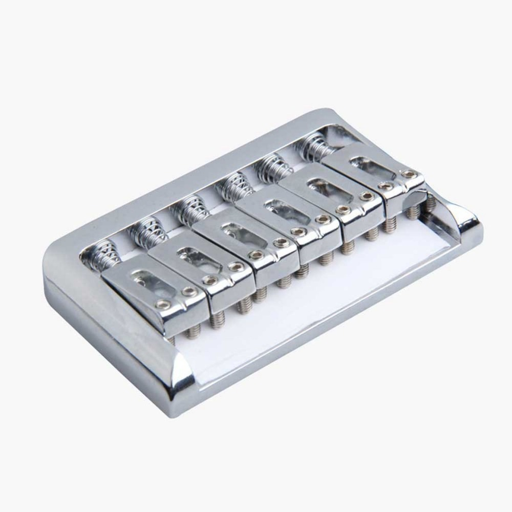 Chrome Hardtail Electric Guitar Fixed Bridge with Wrench Screw