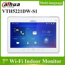 Dahua, многоязычный оригинальный телефон, Wi-Fi, внутренний монитор, видеодомофон, SD-карта, POE, двунаправленная Беспроводная дверь для разговора