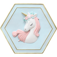 Unicorn wall hanging ornament nordic style creative living room mural kids room decoration dream unicorn wall hanging decor
