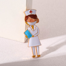 Punk Jewelry Brooches Doctors Nurse Badge Lapel Pin Gift Christmas-Enamel-Pins Gold Medical