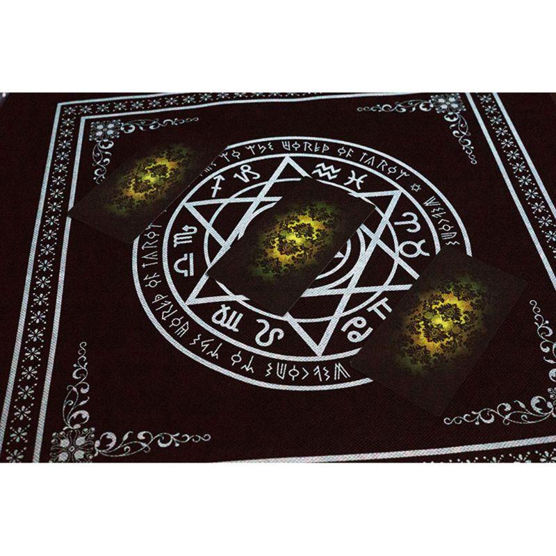 50*50cm Non-woven Tarot Tablecloth Board Game Textiles Hexagon Magic Game Tablecloth Square Tapestry PXPF
