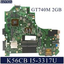 KEFU K56CM Laptop motherboard for ASUS K56CB K56C S550CB S550CM original mainboard I5 3337U 3317U GT740M