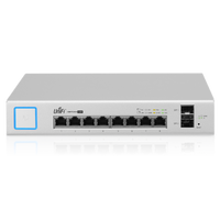 Ubiquiti Networks UniFi Switch US 8 150W 802.3af/at Managed PoE+ Gigabit Switch with SFP