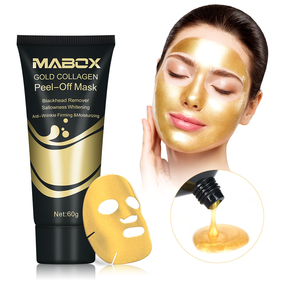 US Stock Gold Collagen Peel Off Mask 24K Gold Facial Mask Anti Aging Wrinkles Lifting Firming Whitening Tear Off Masks Skin Care 1