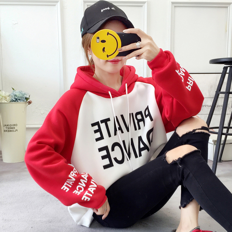 CHIC Hoodie Women's Hooded 2019 Autumn And Winter New Style Korean-style Students Loose-Fit Brushed And Thick Versatile Long-sle