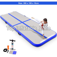 Promotion ! 4M Air Track Mat With One Free Pump DWF Material Inflatable Airtrack For Gym Purple Color Gym Mat/Air Floor Yoga Mat
