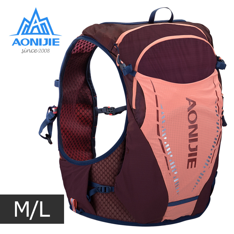 ML Size AONIJIE C9103 Ultra Vest 10L Hydration Backpack Pack Bag Soft Water Bladder Flask For Trail Running Marathon Hiking