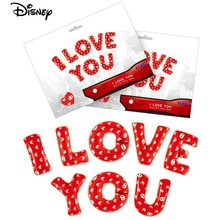 """I LOVE YOU"" Big Hero and six heart Balloons Party Decorations Adult Wedding baloons Valentine Mariage Ballon happy birthday"