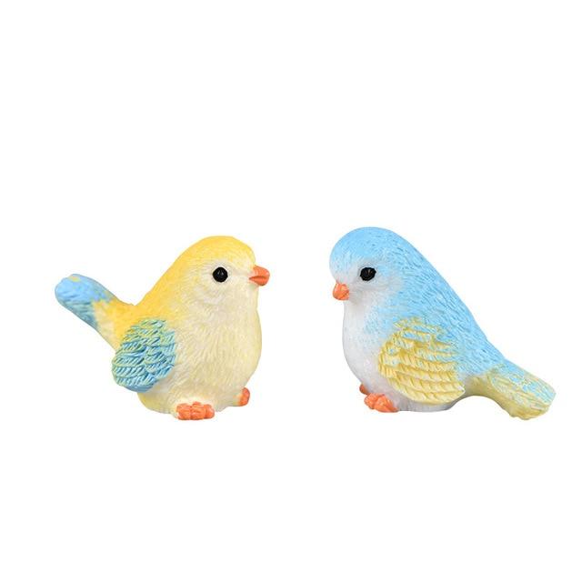 2019 DIY Colored bird mini miniature figurines fairy garden home decor desk decoration accessories christmas miniatures 4