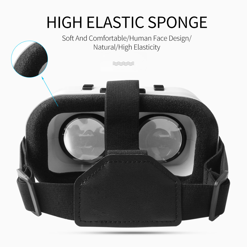 5.0 VR Virtual Glasses Reality 3D VR Glasses Smartphone Box Stereo Headset Helmet For IOS VR Glasses Android Rocker Googles Mini 4