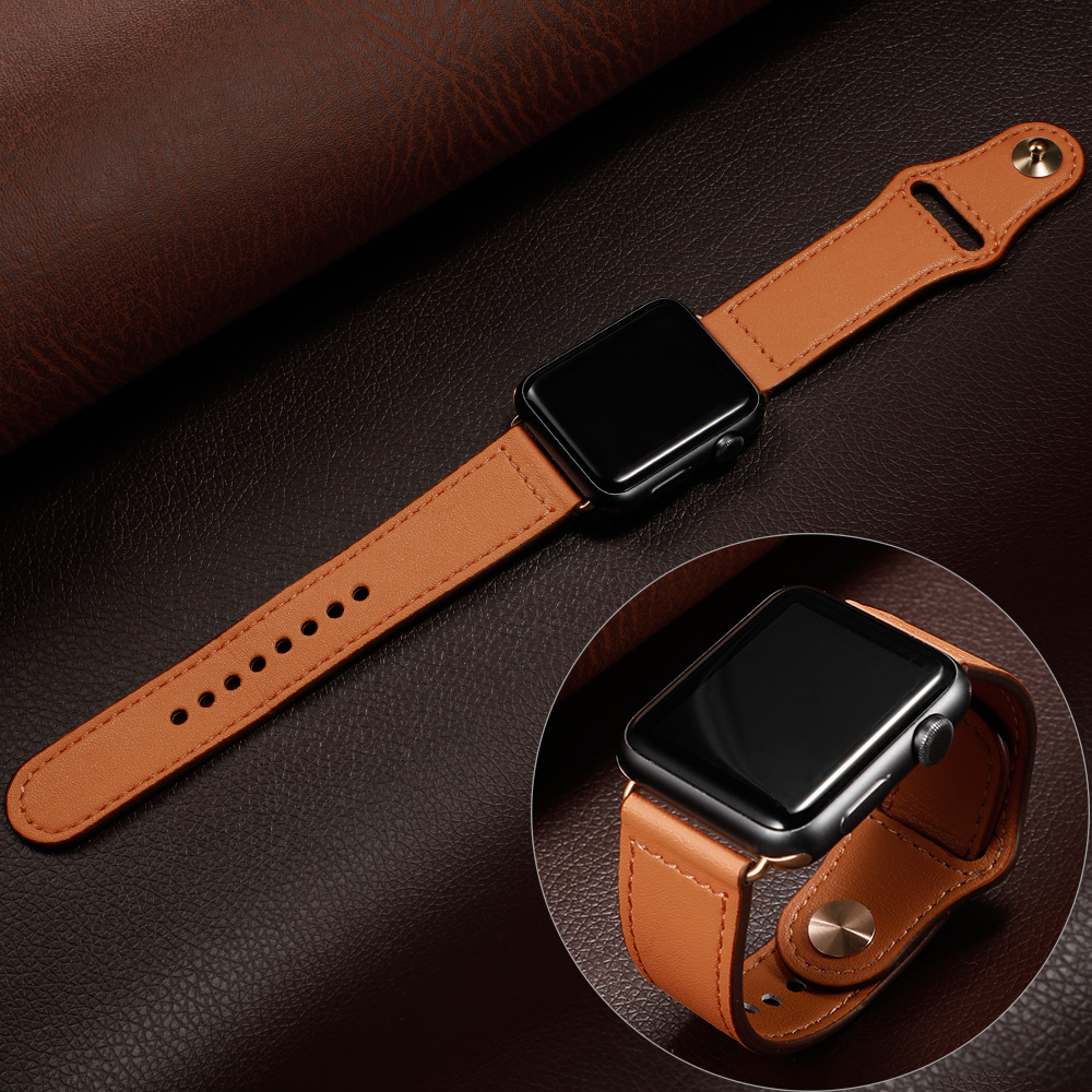 Leather Strap For Apple Watch 4 Band Correa Apple Watch 38 Mm 44mm 40mm Iwatch Band 42mm Pulseira Bracelet Belt Watchband 5 4 3