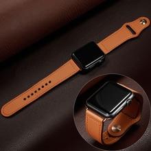 купить Leather watch strap For apple watch 4 band 44mm/40mm iwatch band 42mm correa apple watch 38 mm bracelet belt watchband 4/3/2/1 по цене 299.63 рублей