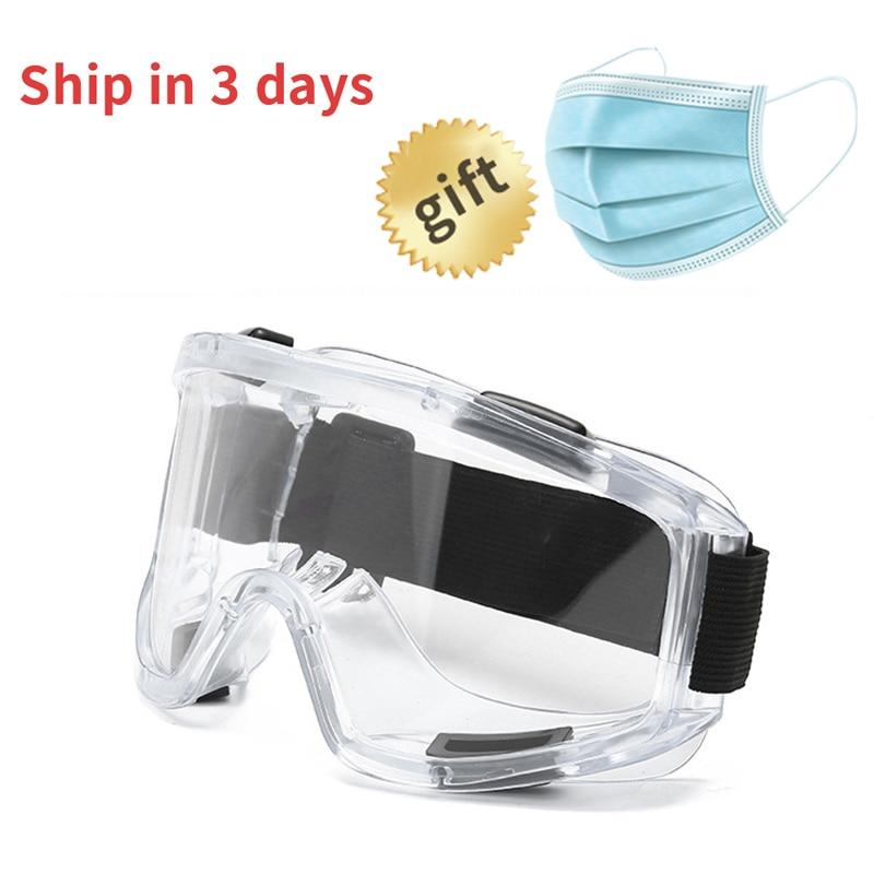 Transparent Protective Goggles Medical Anti-fog Eyes Safety Glasses For Work Eye Protector Anti Virus Mask Safty Googles 0007
