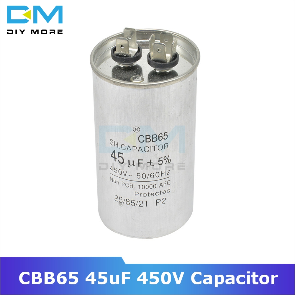 CBB65 45uF 450V AC Motor Capacitor Compressor Air Conditioner Start Capacitor For Washing Machine High-power Lighting Fixtures