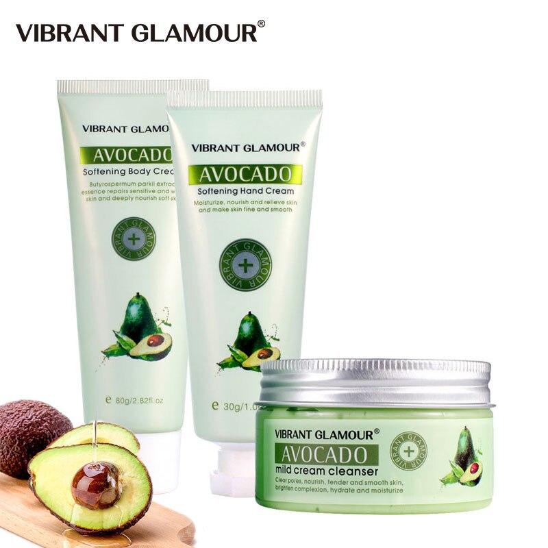 VIBRANT GLAMOUR AVOCADO Hand Cream Massage Mask Body Cream Moisturizing Whitening Deep Cleansing Anti-Wrinkle Plants Body Care