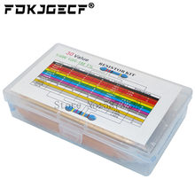 600PCS/LOT 1/4W Metal Film Resistor Kit 1% Resistor Assorted Kit Set 10 -1M Ohm hm Resistance Pack 30 Values each 20 pcs