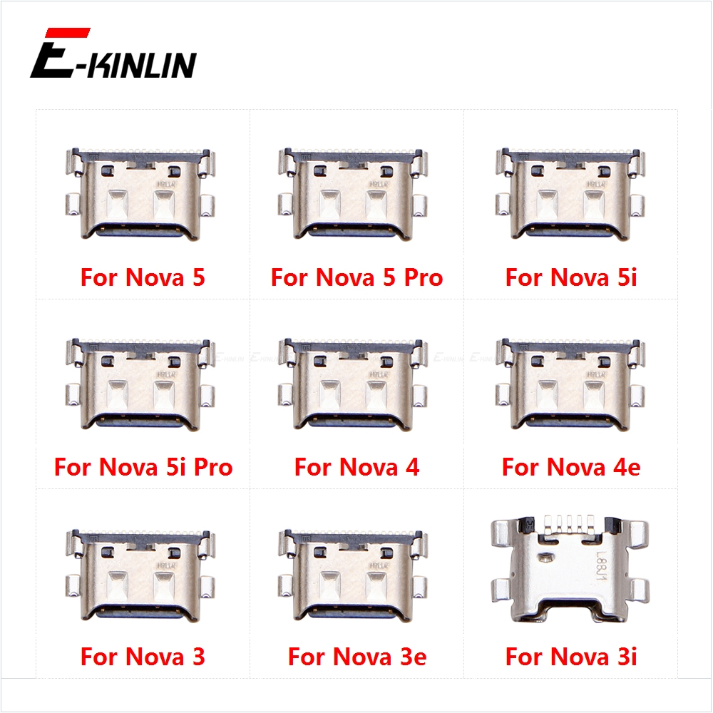Type-C Charge Charging Plug Dock Micro USB Jack Connector Socket Port For HuaWei Nova 5 5i Pro 4 4e 3 3e 3i