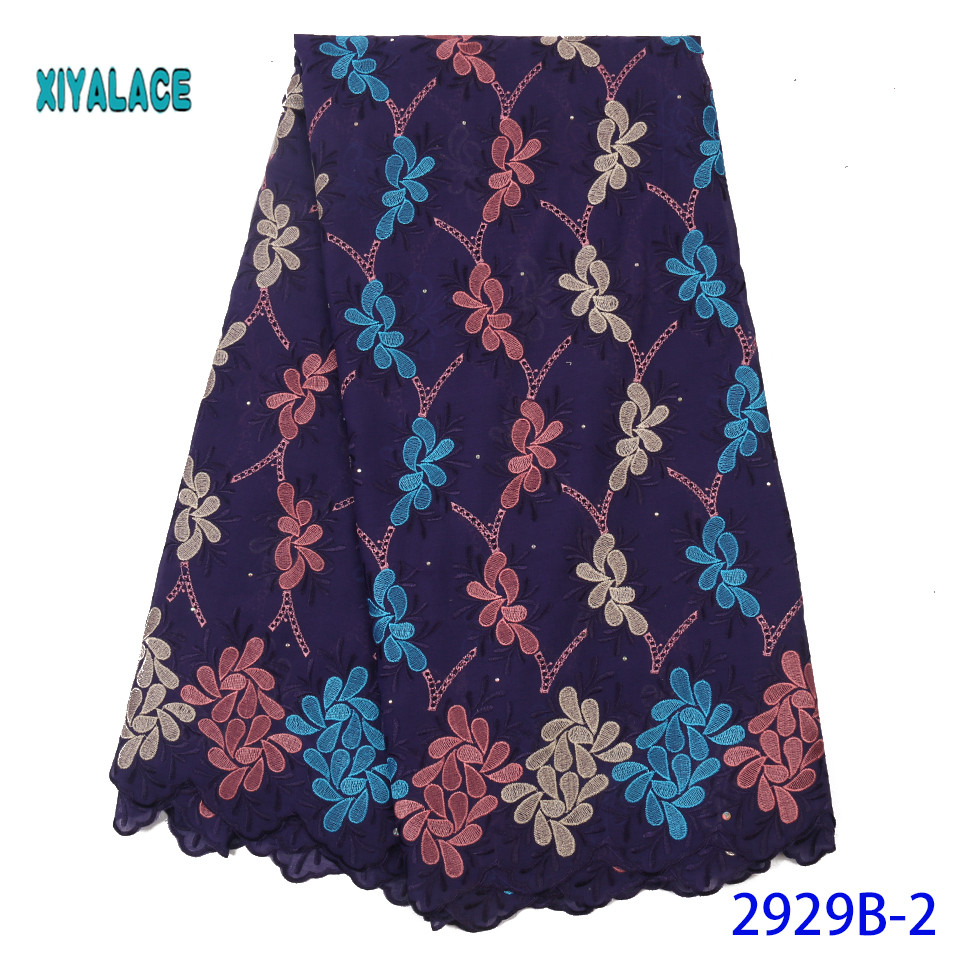 African Lace Fabric High Quality Sequence Lace Fabric Nigerian Lace Fabric 2019 French Lace Fabrics For Party Dress YA2929B-2