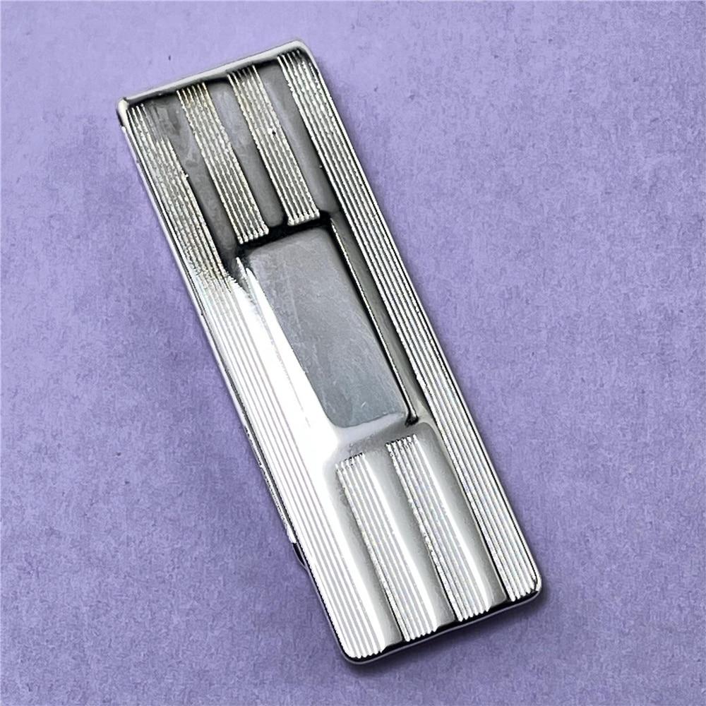 925 Silver Money Clip Striped Money Clip Fashion Jewelry Gift-5
