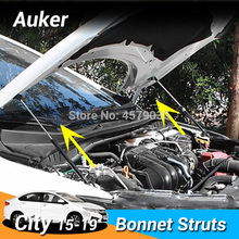 รถ Bonnet ฝาครอบยก Damper ไฮดรอลิก Rod Strut บาร์สำหรับ Honda City Grace Ballade 2015 2017 2018 2019ไม่มีเจาะ/เชื่อม