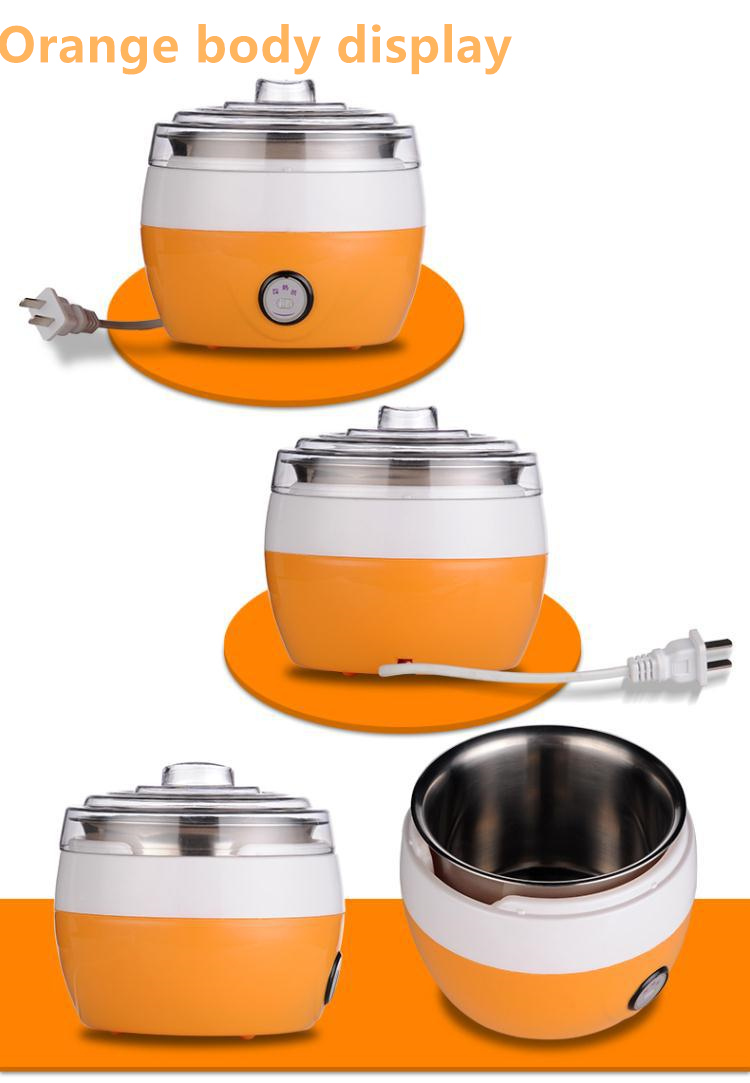 Image 5 - Electric Yogurt Maker DIY Automatic Machine Kitchenware Tools Stainless Steel Yogurt Maker Ice Cream Machine Drop Shipping220V-in Yogurt Makers from Home Appliances