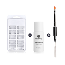 MSHARE Poly Gel Tools Set False Nail Tips Model Form Acrylic Polygel Kit Quick Builder Brush Slip Solution Nails Tips Extension cecily keim crochet visual quick tips