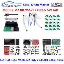Melhor kess v5.017 2.80 obd2 gerente tuning kit k-tag v7.020 4 led online mestre k-tag v2.25 ecu programador + quadro bdm + fgtech 0475