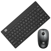 1500 Mini Thin And Light Wireless Keyboard Mouse Set Ergonomic Design Keyboard Mute Mouse kit For Laptop PC