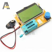 Medidor de esr mega328 transistor tester ESR-T4 triode capacitância diodo digital v2.68 mos/pnp/npn lcr tela lcd tester