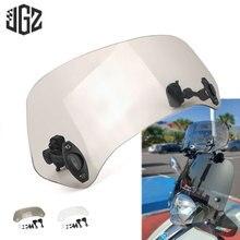 Motorcycle Acrylic Extension Windscreen Clamp-On Windshield For Piaggio Gilera SP50 VX SC 125 ST VXR 200 Nexus 250 300 500 GP800