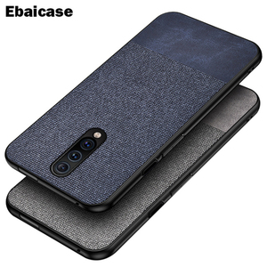 For OnePlus 7 Pro Case Shockproof Back Cover Cloth Fabric Silicone Soft Edge Protect Case For OnePlus 8 Pro 6T 6 7 7T Pro Case(China)