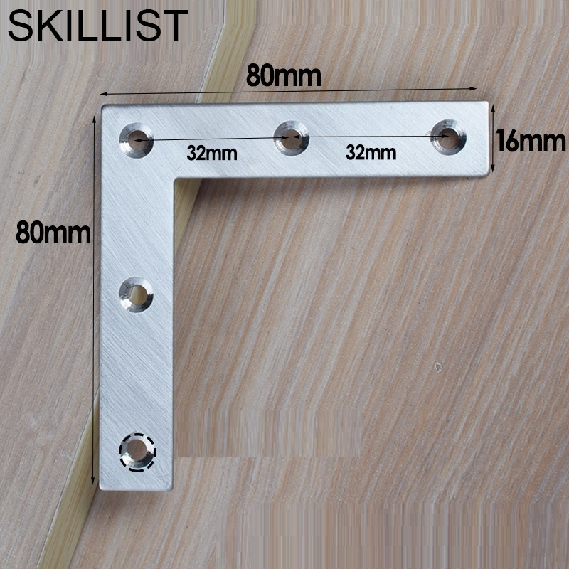 SSS#1 Thick Stainless Steel 90 Degree Right Angle Reinforcement Iron Chair Bed Furniture Hardware Connection Accessories