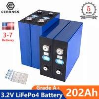 3.2V 200Ah 12v batterie Lifepo4 grado A 4 pezzi fai da te 24v 48v litio ferro fosfato batteria ricaricabile US EU nessuna tassa