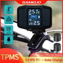SAMEUO – système de surveillance TPMS de la pression des pneus de moto, alarme à énergie solaire