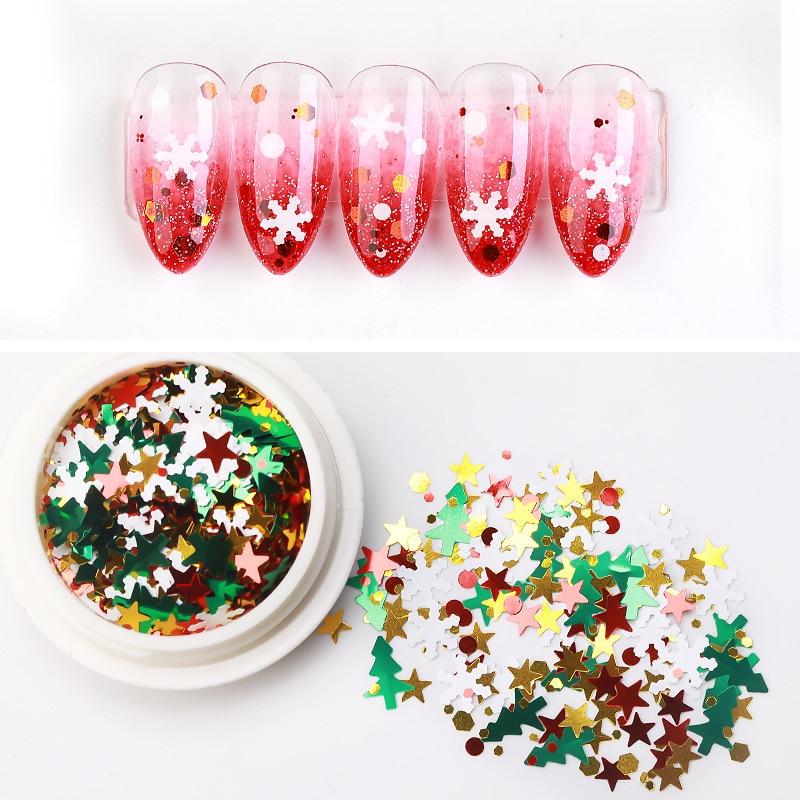 1box-Christmas-Nail-Glitter-Flakes-Red-Green-White-Snow-Metallic-Slice-Tip-Nail-3D-Sequin-Rhinestone