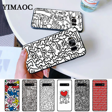 Keith Haring Silicone Case for Samsung S6 Edge S7 S8 Plus S9 S10 S10e Note 8 9 10 M10 M20 M30