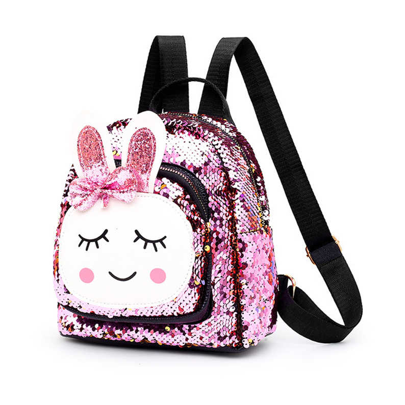 Mode Kleinkind Kinder Mädchen Nette Cartoon Rucksack Schul Pailletten Bling Rucksack Schule Bookbag Daypack