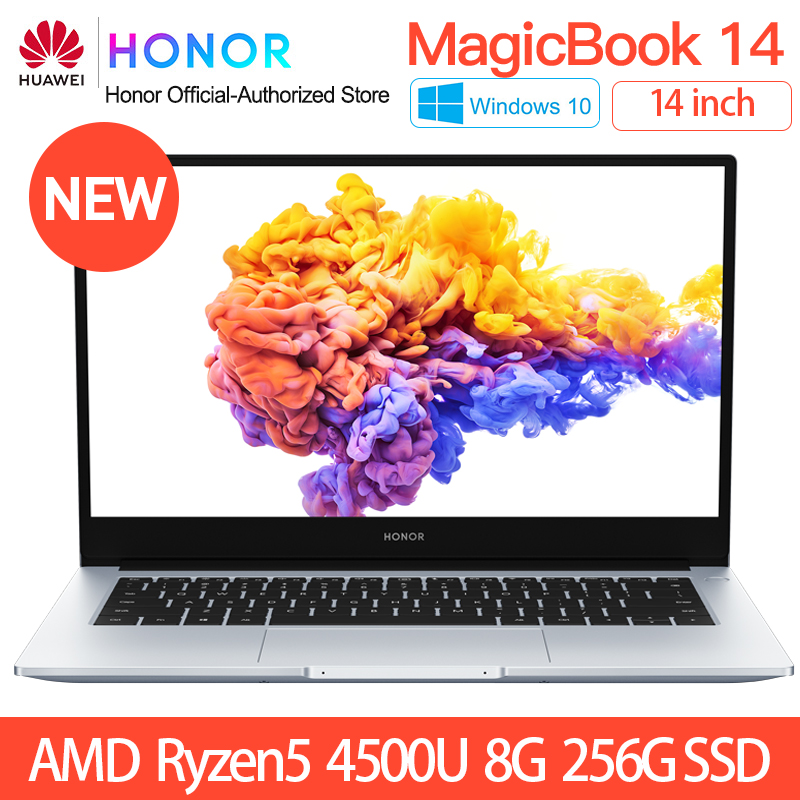 HUAWEI HONOR MagicBook 14 2020 Laptop Notebook Computer 14 inch AMD Ryzen 5 4500U/ 4700 8/16G 512GB PCIE SSD FHD IPS ultrabook(China)