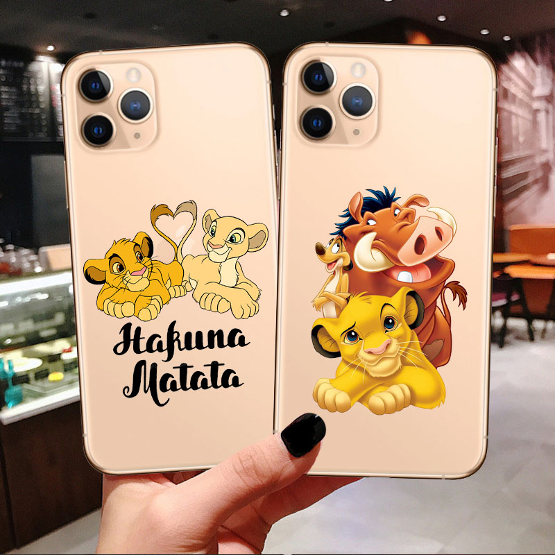 For IPhones 11 Pro MAX Lion King Simba Cute Cartoon Soft TPU Case For IPhones 6 6S 7 8 Plus X XR XS Max Flexible Silicone Cover