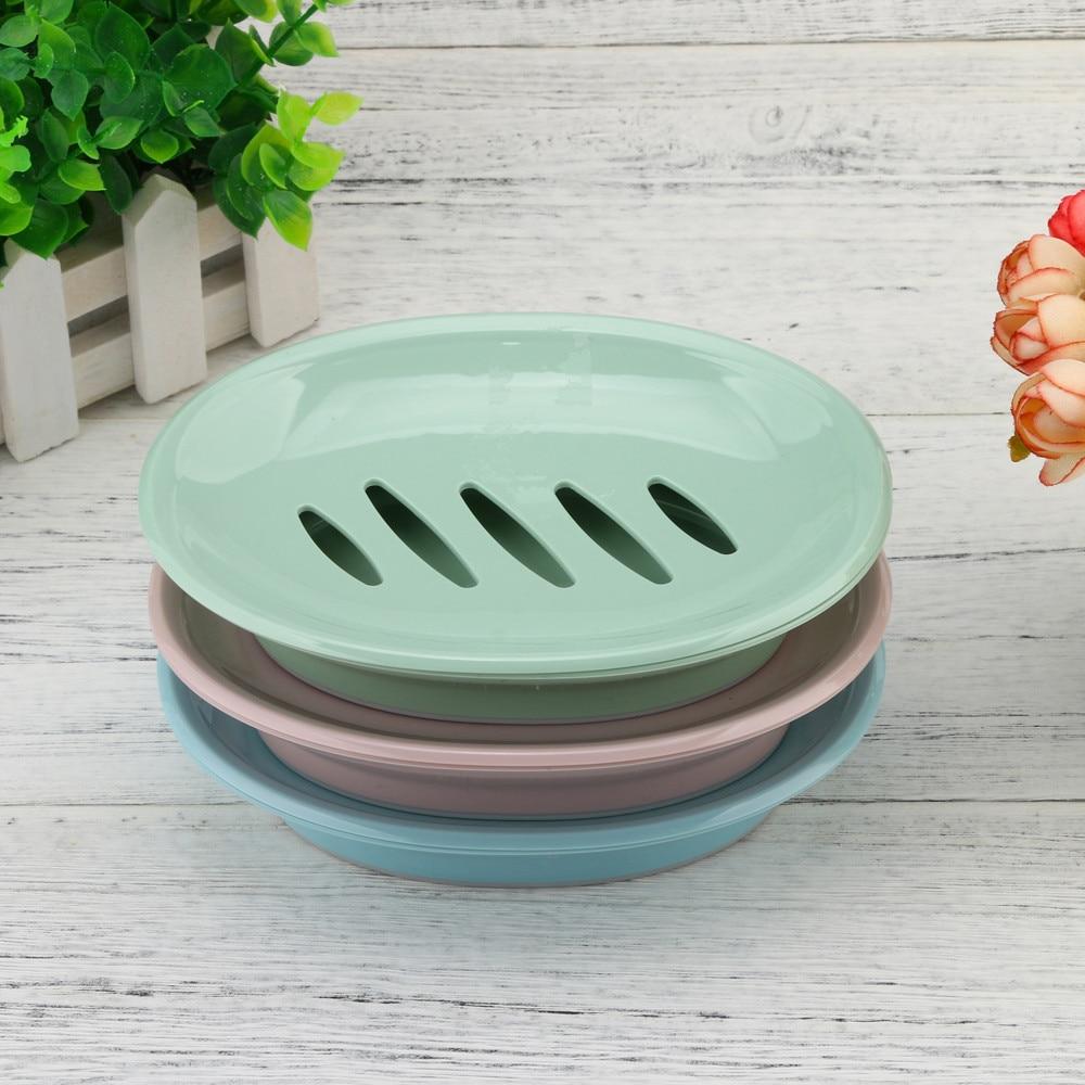 Soap Holder Home Shower Bathroom Soap Box Container Plate Tray Drain Case Sponge Soap Dish Porte Savon Salle De Bain Dropship #