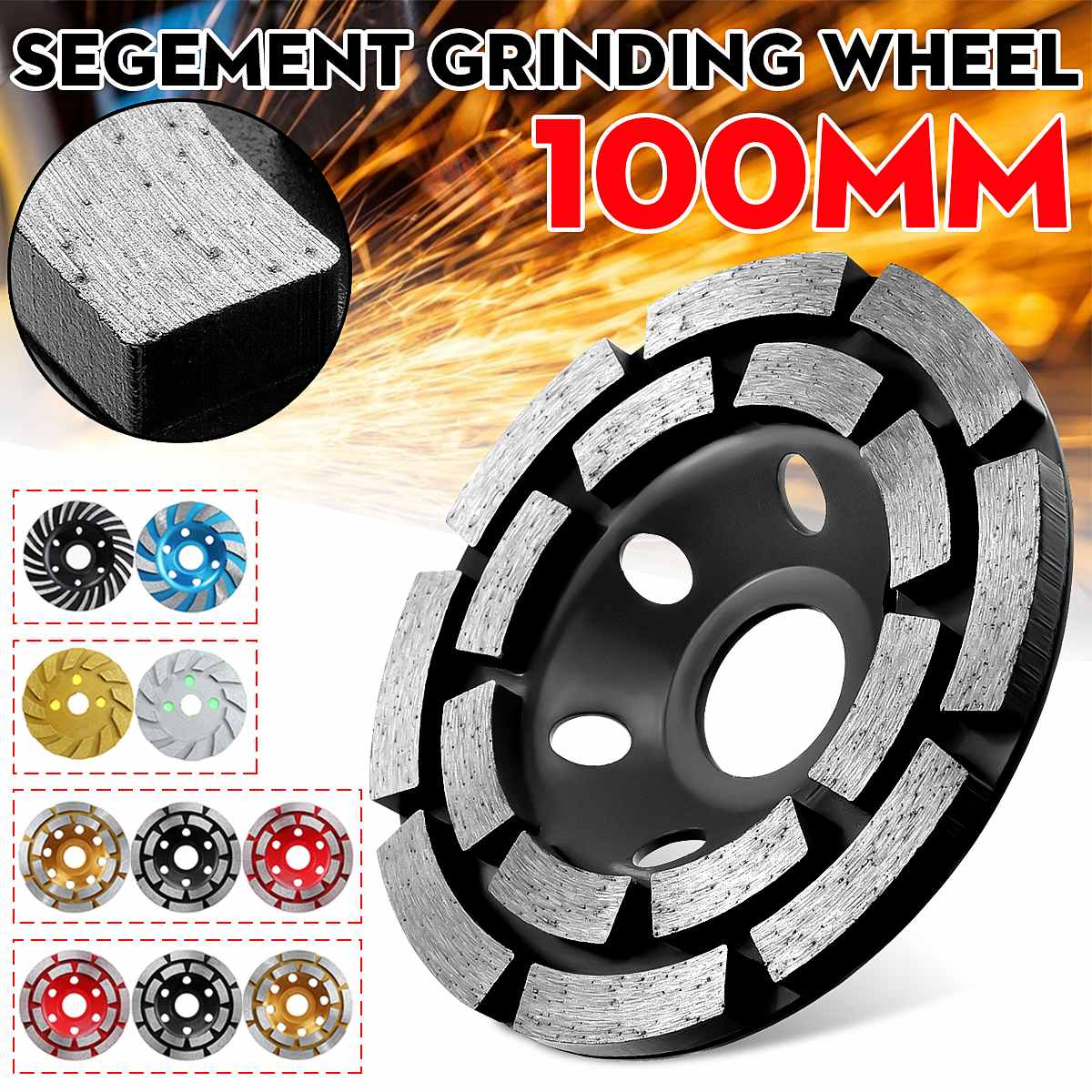 4 Inch Cup Diamond Grinding Wheel Cutting Disc Tool for Concrete Masonry Stone