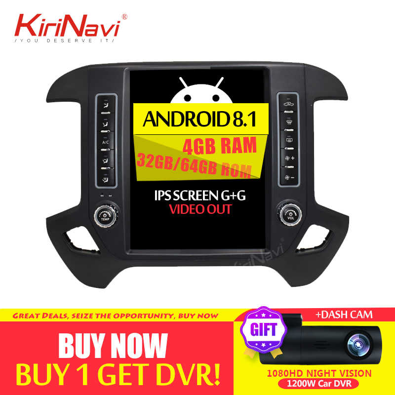 KiriNavi 12.1 ''Android 8.1 Auto Radio Voor CHEVROLET Silverado Auto Dvd Gps Android Multimedia Video Player Navigatie 2014- 2018