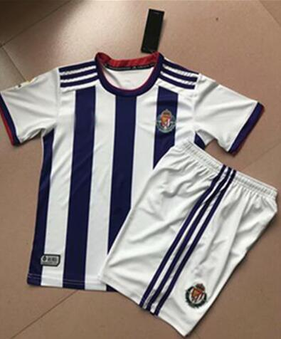High quality Royal Valladolid 2019 2020 home service children's t-shirt Valladolid Toni Villa Sergio Guardiola Enes Unal