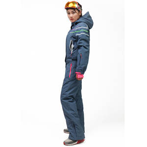 Underwear Ski-Suit Double-Plate Waterproof One-Piece Thick Padded Wind-Resistant Warm