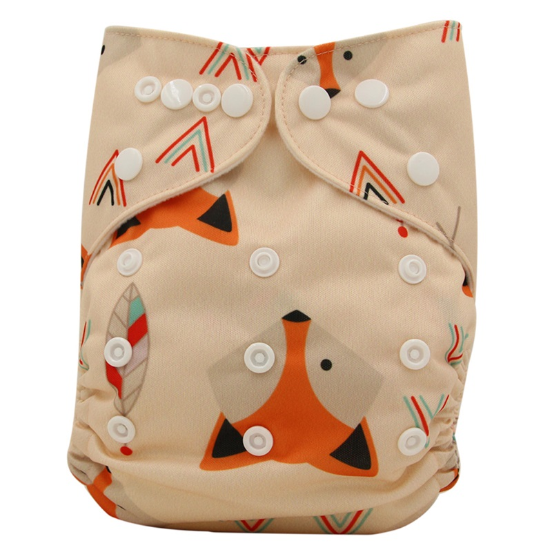 Baby Cloth Diaper Couche Lavable Cartoon Print Reusable Nappy Cover With Bamboo Fiber Diaper Cover Training Pants For Baby Care