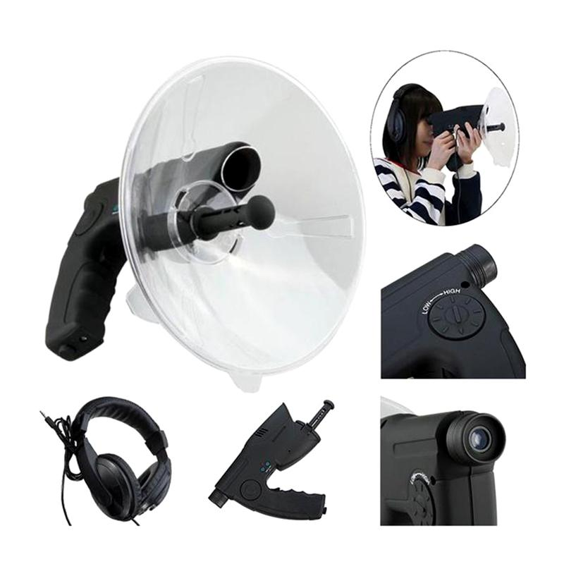 Monocular Digital Sound Collector Headphone 8X Zoom Monocular Telescope Sound Recorder Outdoor Sound Collector Tool